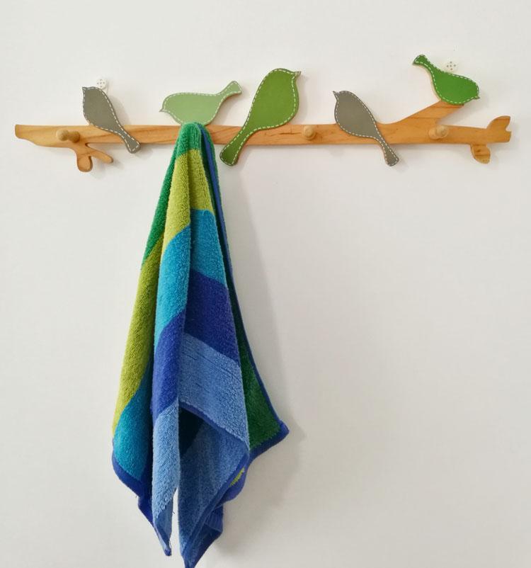 Großhandel Kreative Vogel Holz Vintage Wandhaken Wand Haushälterin