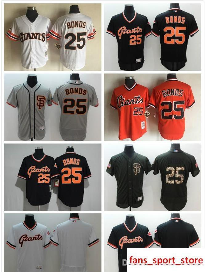 30fa976d7bd 2017 Men s 25 Barry Bonds Flexbase Sn Fo Giants Barry Bonds 100 ...