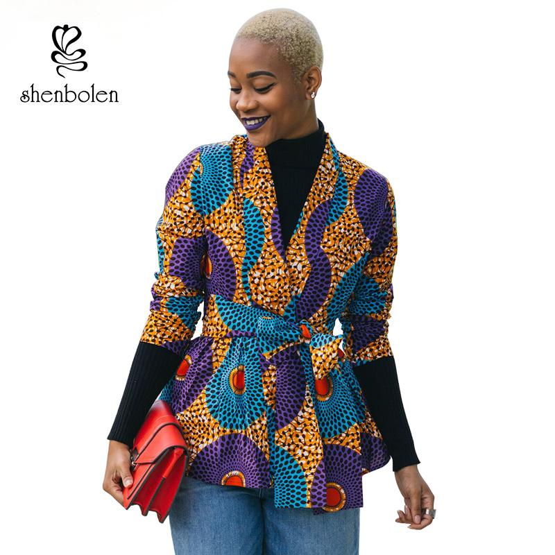 b79358c5b92 2019 2018 Autumn African Dress For Women Long Sleeve Jacket Ankara Print  Fall Coat Cardigan Wite Tie Plus Size Lady Clothes Cardigan From Yingluo