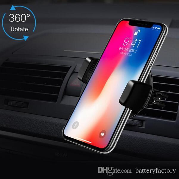 Caricabatteria da auto wireless auto da 360 gradi Caricabatteria da auto Qi caricabatterie wireless iPhone X 7 8 plus Samsung S8 Plus