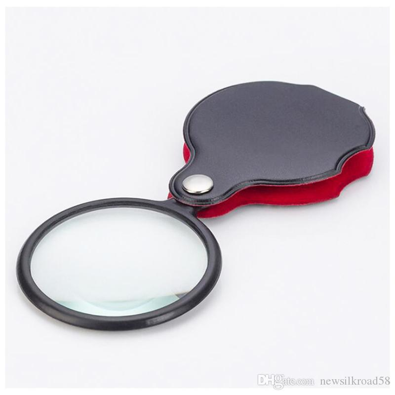 2018 New 6X Black Mini Pocket Jewelry Magnifier Magnifying Glass Loupe Travel Camping Portable Glasses 8X