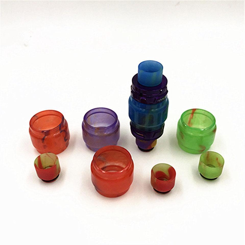 Renkli Reçine Cam Değiştirme Epoksi Genişleme Tüp Kapaklar Damla İpucu Tüpler TFV8 Bebek X-Bebek için TFV12 Prens Tankı Atomizer