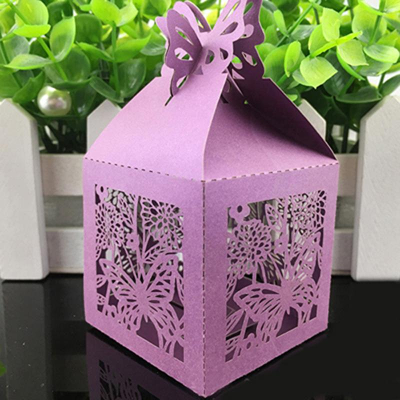 Hollow Butterfly Cute Paper Candy Box Wedding Favors Gift Box