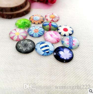 2018 HOT selling Colorful flower galss Snap button Charm Popper for Snap Jewelry picture pendant