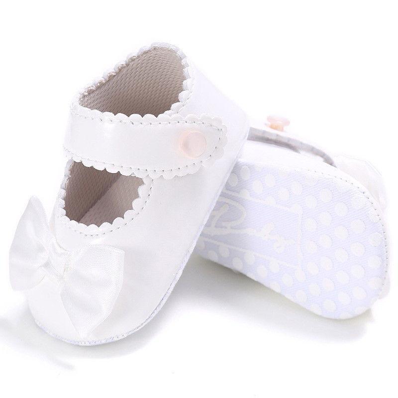 d4f51c125dc8f Acheter Bébé Filles Enfants Toddler Vêtements Casual Princesse Chaussures  Enfants Enfants Bow Pram De Mariage De Baptême Parti Chaussures Une Paires  De ...