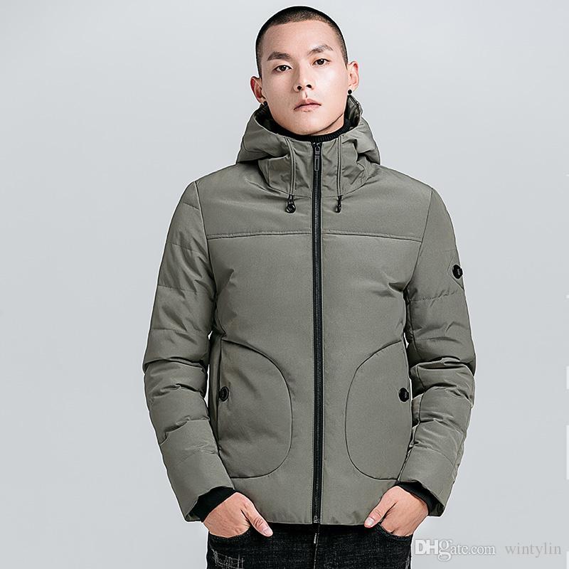 efaf37044 Men Winter Jacket Fashion Hooded Thermal Down Cotton Parkas Male Casual  Hoodies Windbreaker Warm Coats,YA710