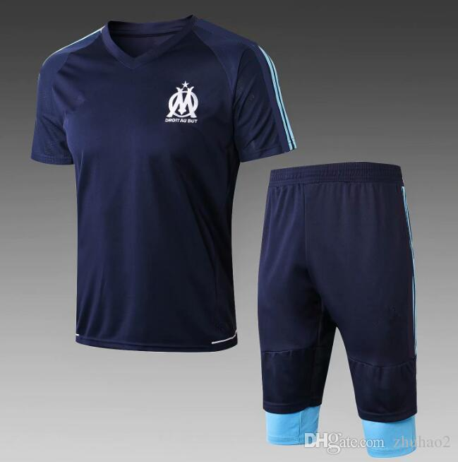 4d526fd24 2018 19 Olympique De Marseille Soccer Uniforms 2018 SAKAI CLINTON THAUVIN  PAYET Football Shirts+Pants Best Quality UK 2019 From Zhuhao2