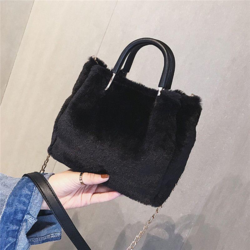 Osmond Chain Handbags Faux Fur Crossbody Bags For Women Luxury Shoulder Bags  Plush+Leather Chain Bucket Ladies Tote Fiorelli Handbags Discount Designer  ... efe1fb1a9cd08