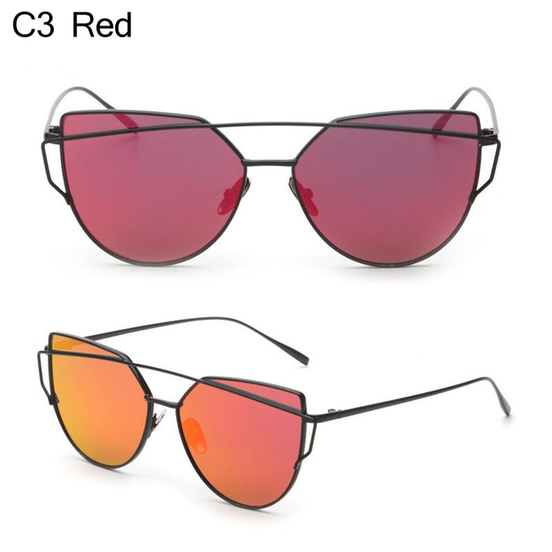 f8b4ed213d Cat Eye Women Sunglasses Brand Design Mirror Flat Rose Gold Vintage Cateye  Fashion Sun Glasses Lady Eyewear UV400 Cheap Sunglasses Mens Sunglasses  From ...