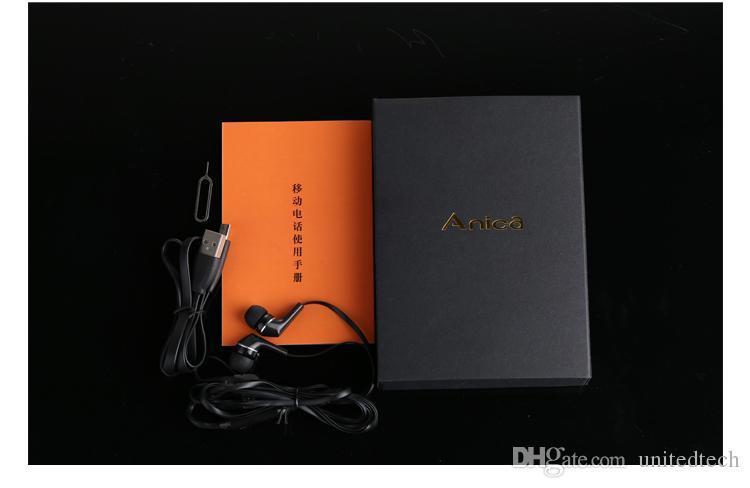 Teléfono original de Anica A7 con la mini tarjeta ultrafina ultrafina Teléfono de lujo Bluetooth teléfono a prueba de polvo a prueba de polvo de 1.63