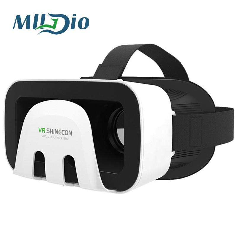 Mlldio Vr Shinecon 3.0 Virtual reality vrbox google cardboard 3d glass with gamepad for smartphone Xiaomi/Iphone/Samsung/Huawei