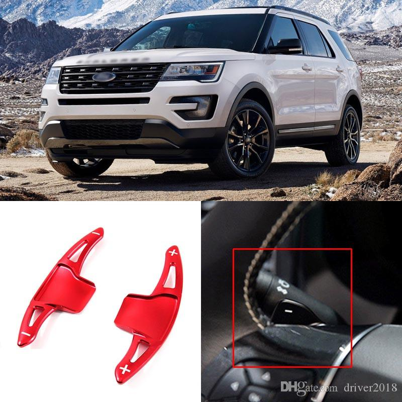 2pcs Aluminum Alloy Steering Wheel Shift Paddle Shifter Extension For Ford  Explorer 2013 2014 2015 2016 2017