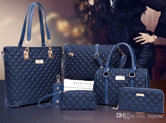 Fashion Bags Totes Womens Top Handle Handbag Tote Purse Set Shoulder Bag  Leather Girl Tote Purse For Ladies Handbag Set Rosetti Handbags Cheap Bags  From ... e932ab4437541
