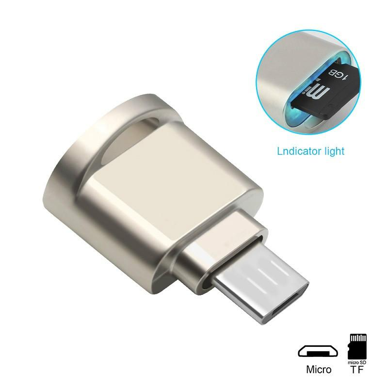 Mental Micro USB Card Reader Android OTG Phone Memory card reader Adapter  for TF micro SD pc computer laptop accessories