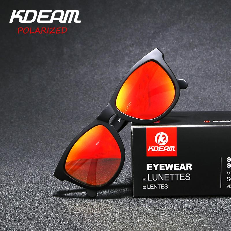 34293b4e0e8a28 TR90 Frame KDEAM Polarized Sunglasses Men Sport Reflective Coating Lens Women  Eyewear Zonnebril UV400 With Case KD777 Custom Sunglasses Heart Shaped ...