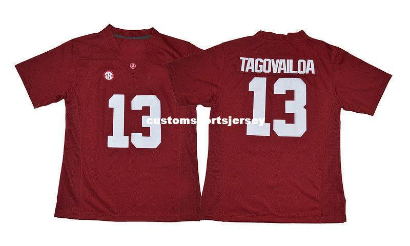 428f22548 2019 Cheap Custom Tua Tagovailoa Jersey  13 Alabama Crimson Tide Football  Jersey Red Stitched Customize Any Number Name MEN WOMEN YOUTH XS 5XL From  ...