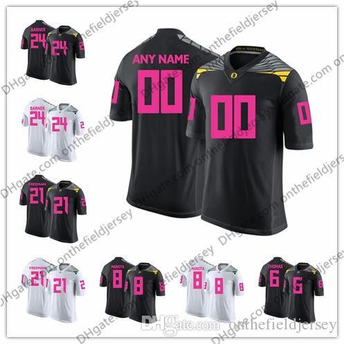 093eb4d0c Custom Oregon Ducks 2018 Mother Days NCAA College Football Pink Jerseys  Stitched Any Name Number Mariota Barner Freeman Thomas Blount S 3XL UK 2019  From ...
