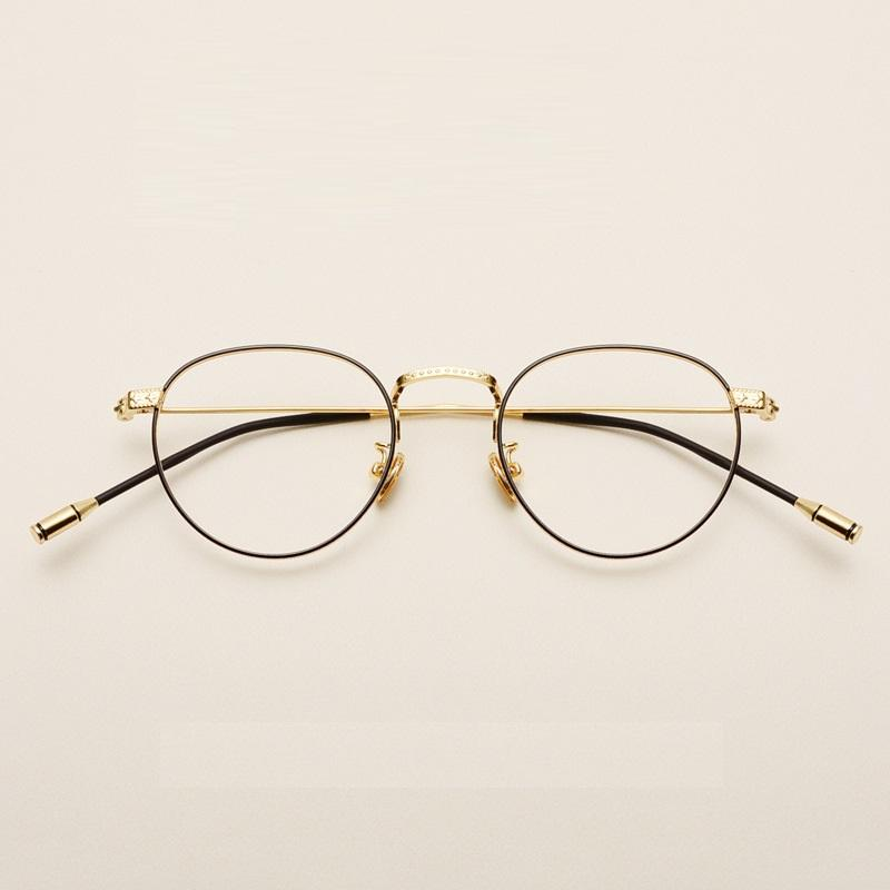 a5c2991295 2019 Vazrobe Thin Frame Glasses Men Women Metal Vintage Eyeglasses Man  Prescription Spectacles Diopter Clear Lens Ultra Light From Kwind