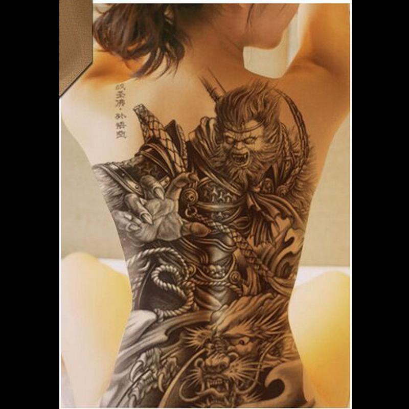 großhandel große schwarze tattoos männer frauen wasserdichte große