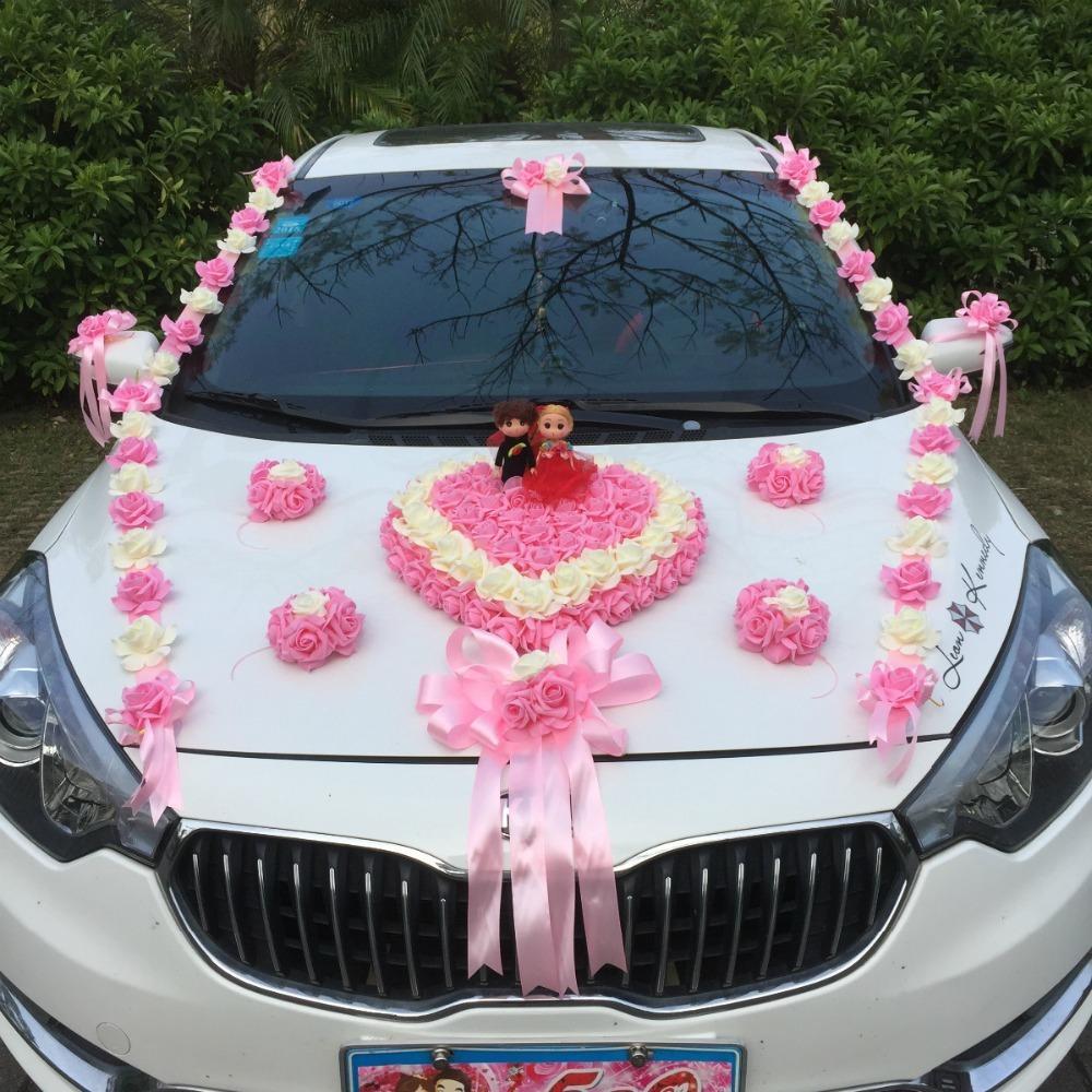 2018 Romantic Wedding Car Decoration Artificial Flowers Set