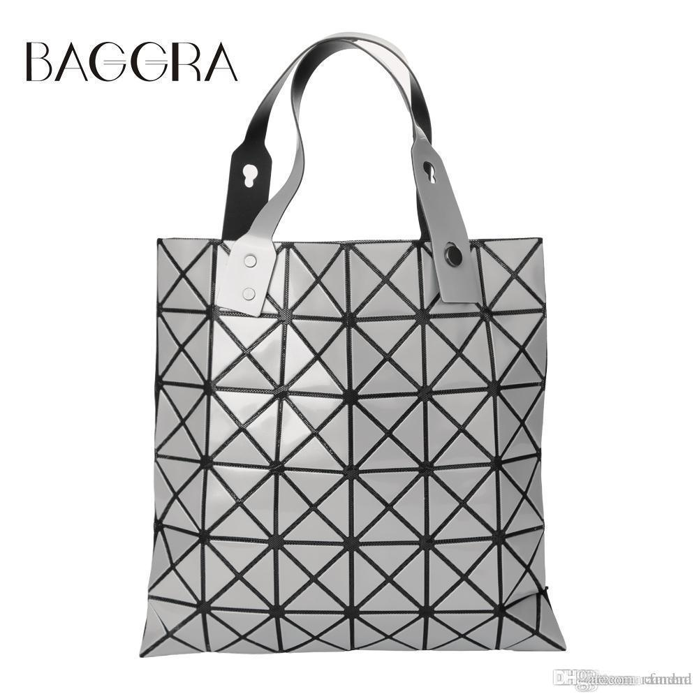 511267b9fd7 Wholesale Fashion Handbags Laser Geometric Diamond Shape Sliver Paint  Patchwork Tote Women Shoulder Bao Bao Ladies Bag Sacoche Bolso Mujer  Leather Backpack ...