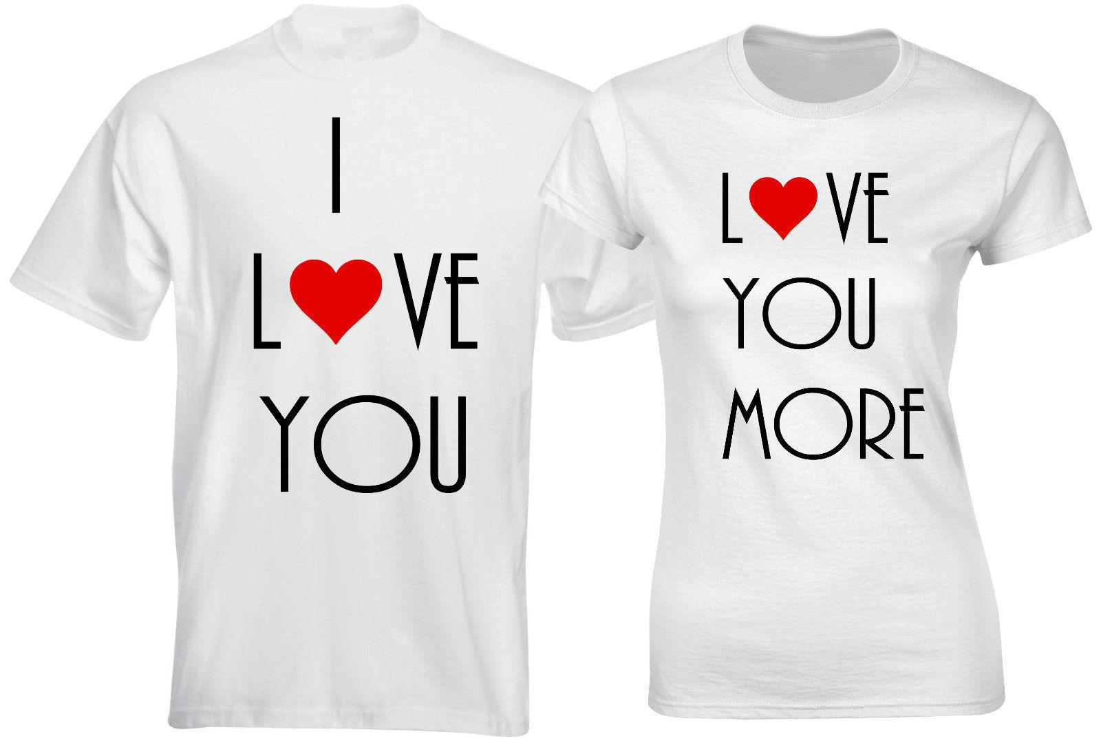 I Love You Love You More Husband Wife Funny Slogan Couple Matching T