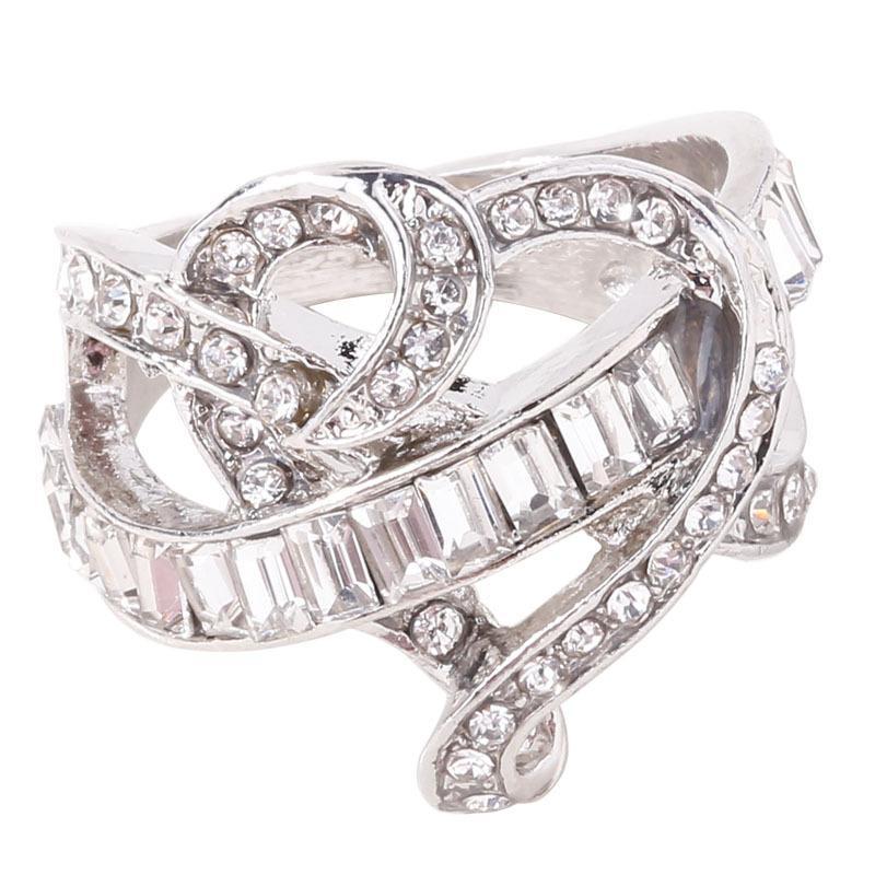 Pierres Précieuses Anneau Blanc Mariage Mariée Bague De Fiançailles Bague Bijoux Anneaux Anneaux Anneaux Anneaux Pas Cher Populaire Diamant Cristal