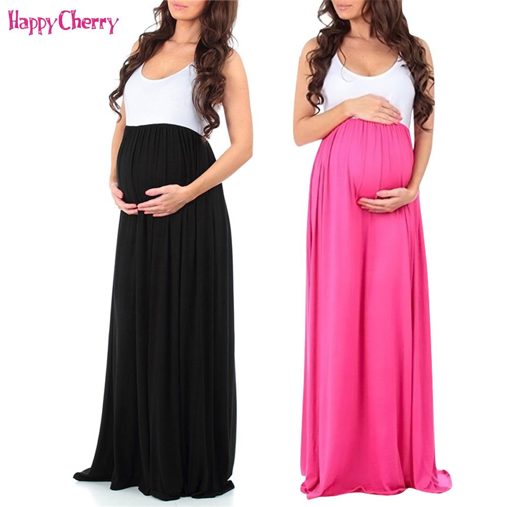 23ace62fb8f 2019 Maternity Dress 2018 New Pregnancy Clothes Pregnant Women Lady  Sleeveless Long Ankle Length Maxi Dress Slim Stretch Summer From  Paradise02