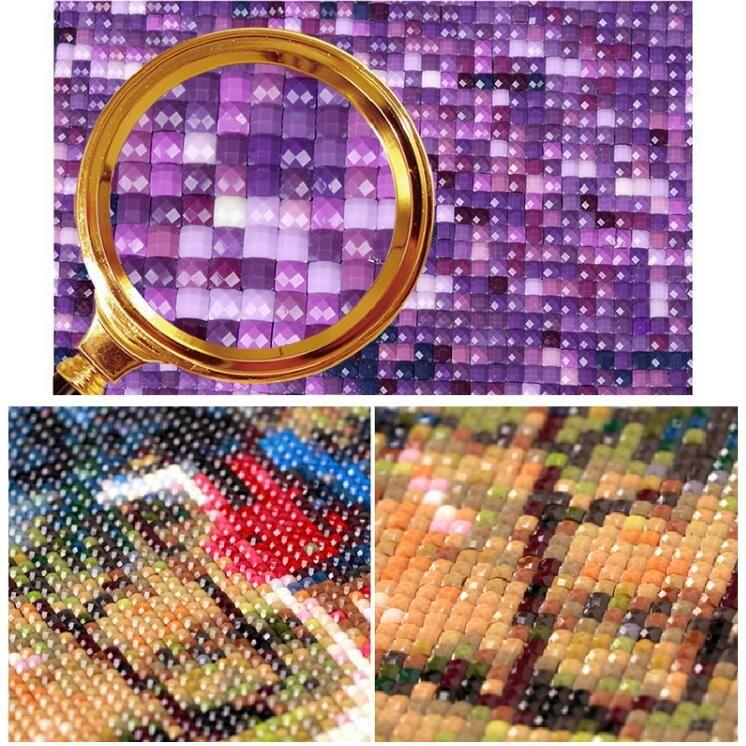 85158ca9c3 5D DIY Diamond Painting cross stitch Poppy square diamond Mosaic Diamond  Embroidery red flowers Needlework Decorative ...