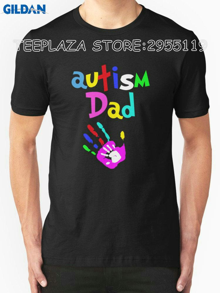c113b6b2d Teeplaza T Shirt Designer O-Neck Short Father'S Day Autism Dad New ...