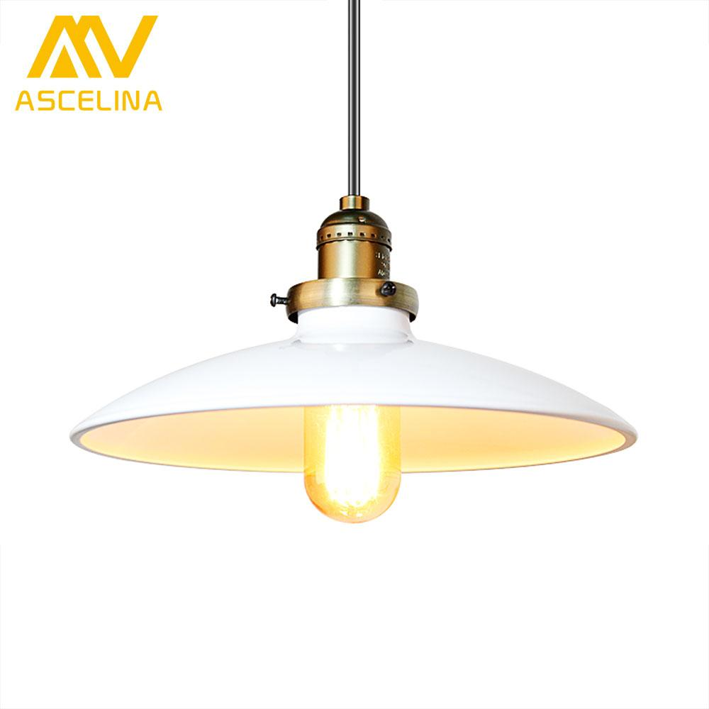 Loft vintage pendant lamp dia 250mm e27 aluminum iron metal retro northern europe industrial style edison pendant lights kitchen pendant light fixtures