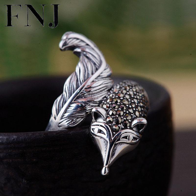 Großhandel FNJ 925 Silber Fuchs Ring Tier MARKASIT Original S925 Sterling  Thai Silber Ringe Für Frauen Schmuck Mädchen Einstellbare Größe Von  Mantous, ... 10bcac8829