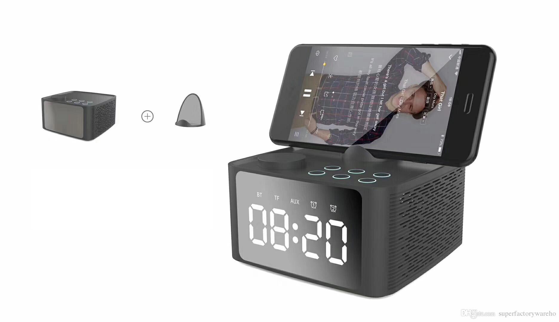 Sonido Con Nuevo Móvil Cabecera Despertador Creativo Doble Subwoofer Altavoz Unids B1 1 Soporte Teléfono Reloj De Bluetooth fy76vgYb