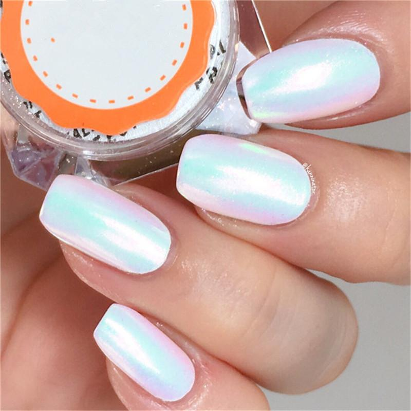 02g Unicorn Mermaid Powder Nail Art Glitter Chrome Pigment Powder
