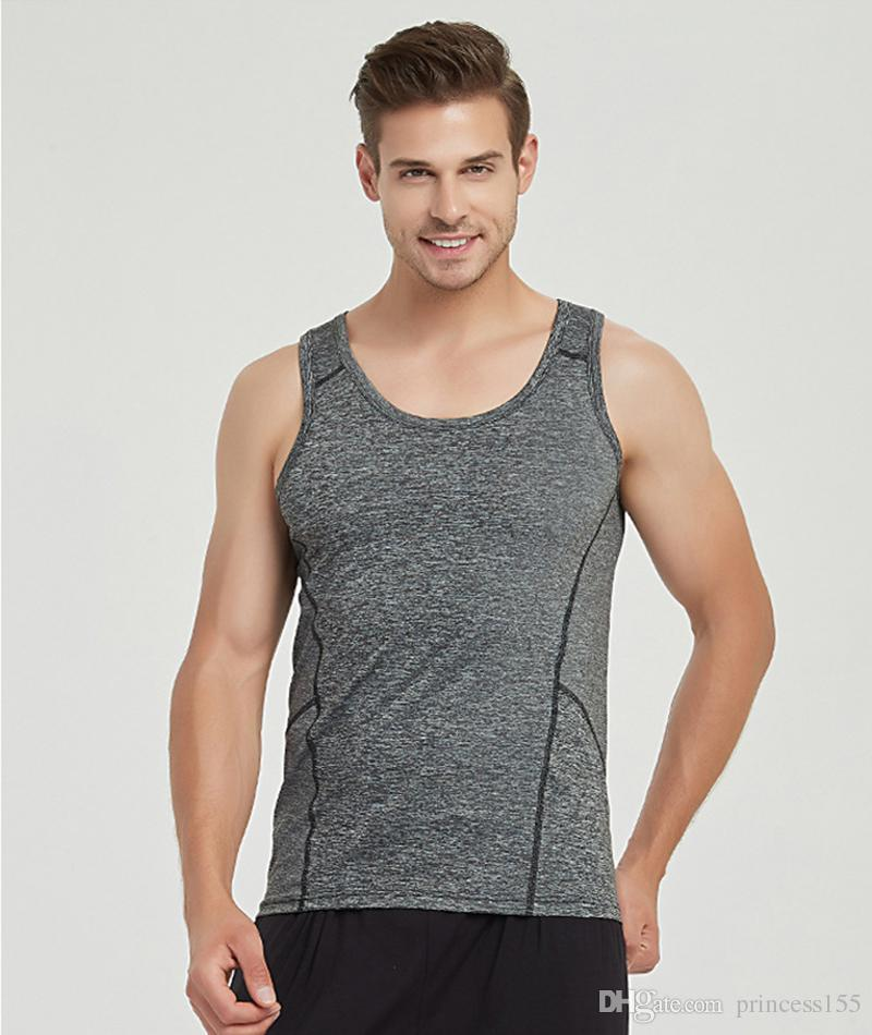 5b45252ca2c23 New Summer Men s Ice Free Vest With V Neck Trim Sports Stretch ...