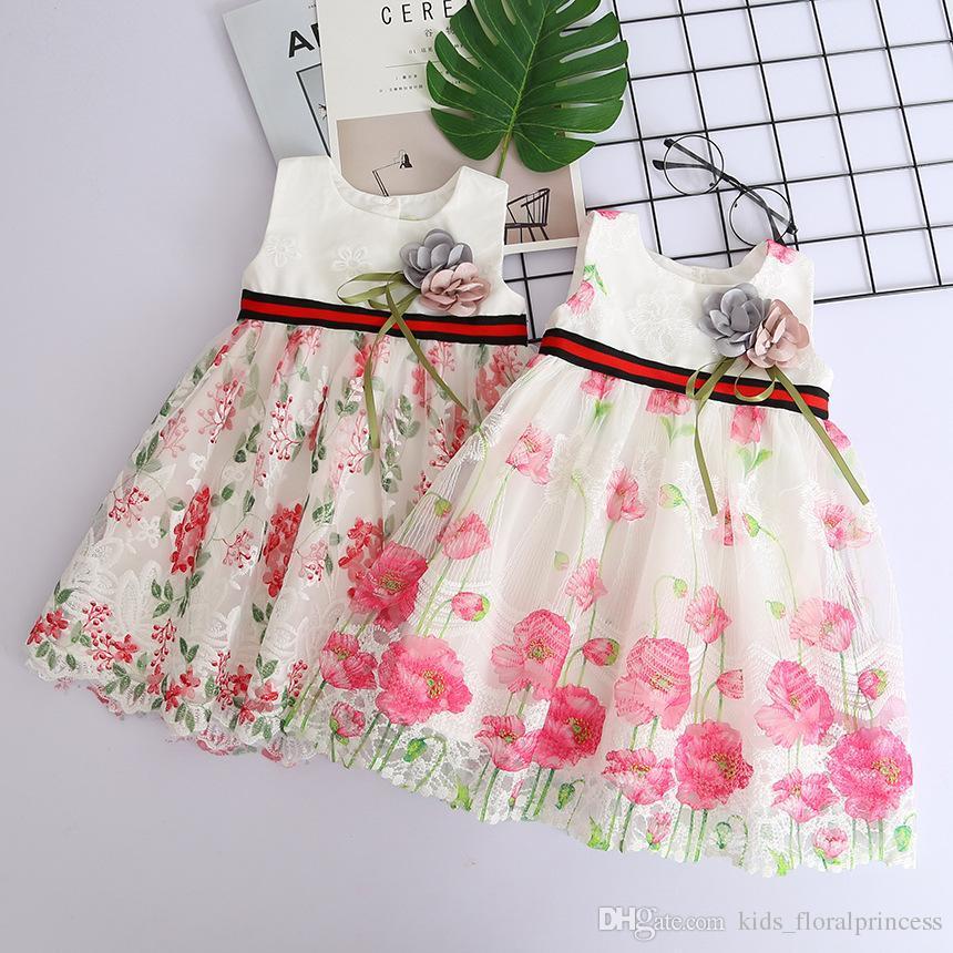 Großhandel Weiße Prinzessin Hochzeit Tutu Kleid Kinder Kleidung ...