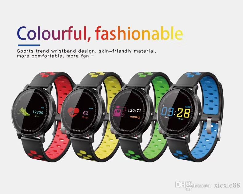 1X F4 Smart Bracelet Watch Band fitness tracker Blood Pressure Heart Rate Monitor Thermometer Pedometer Wristband for Android IOS pk fitbit