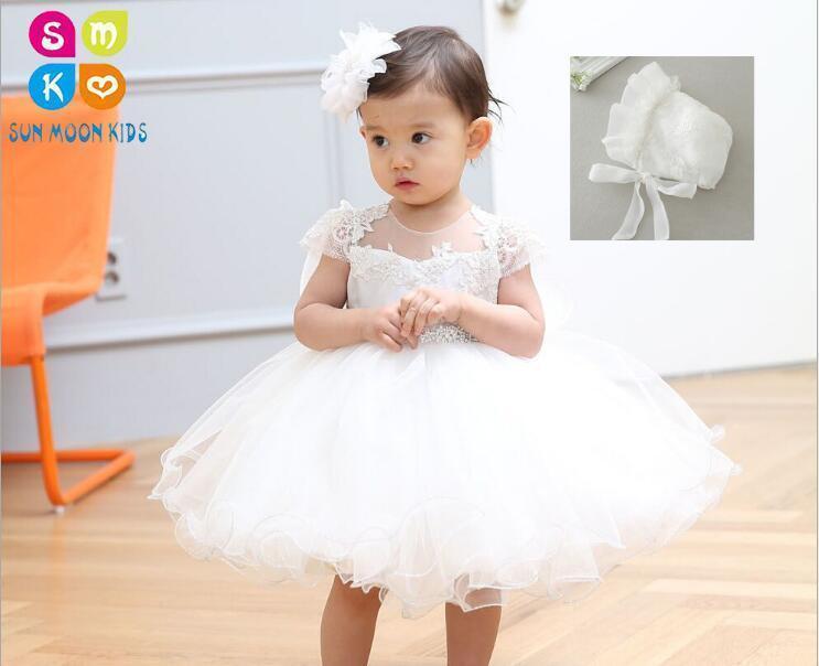 670312da765 Compre Baby Girl 1 Ano Vestidos De Festa De Aniversário Da Princesa Do Bebê  Vestido Da Menina Infantil Batizado Vestido De Batismo Para Recém Nascido  ...
