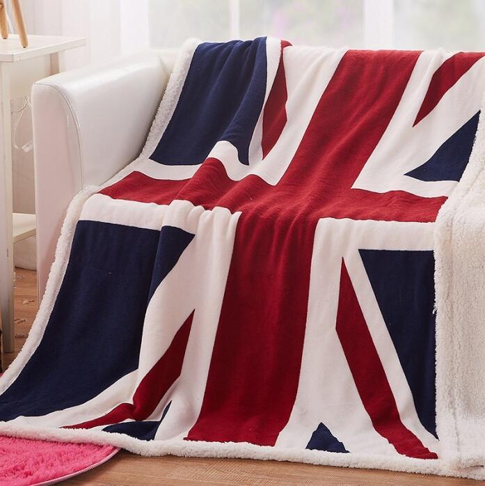 Großhandel Europa Doppelschicht Dicke Englisch Flagge Fünf Sterne
