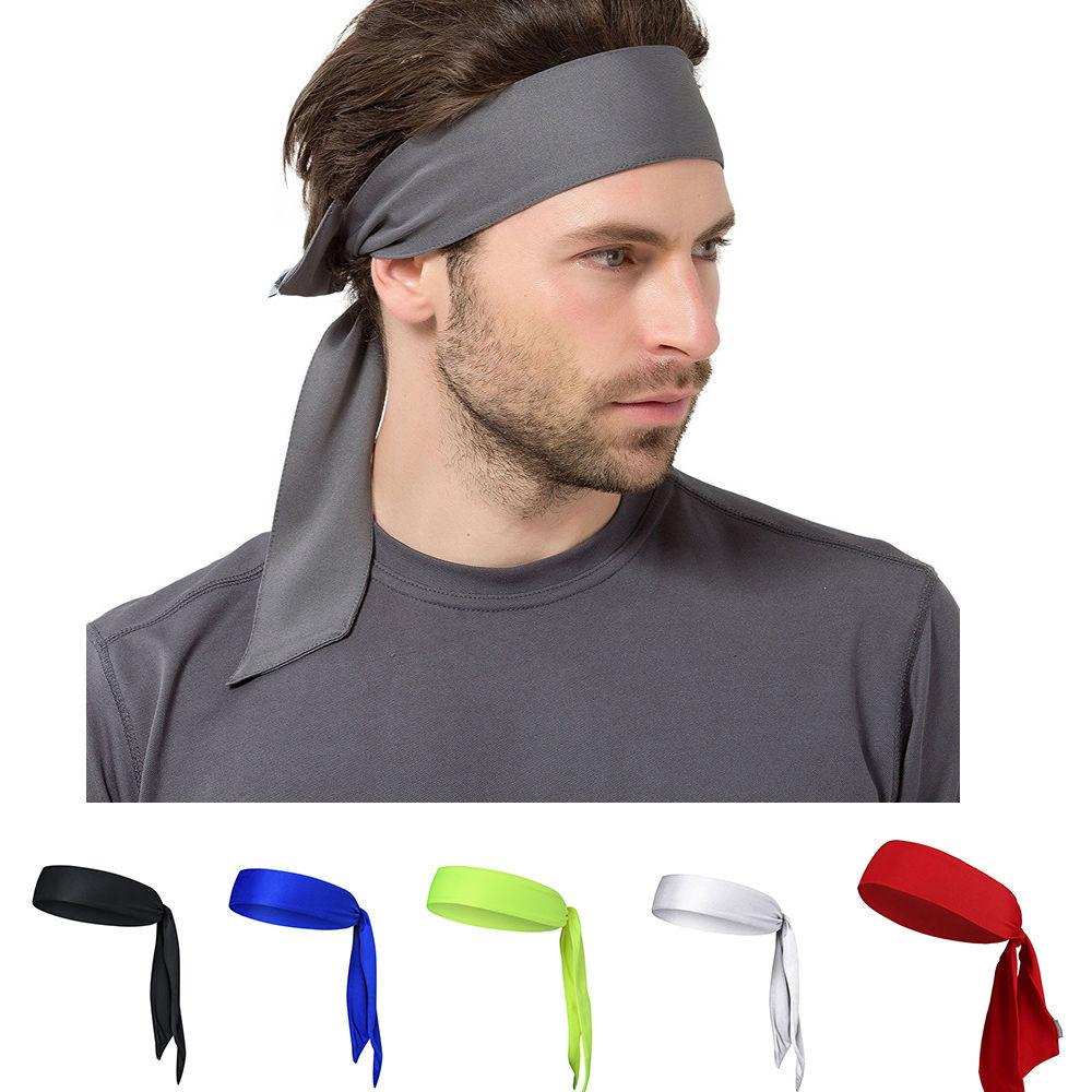 Mens Women Elastic Sports Headband Fitness Yoga Sweatband Running Workout  Gym Headband Fitness Running Sweatband Headbands Sweatband Online with ... adc736b381c