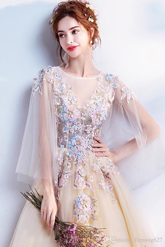 Mariage de l'ange oriental Fée de fleur chinoise Cheongsam Robe de mariage jaune clair anniversaire Fête Dîner annuel Vêtement