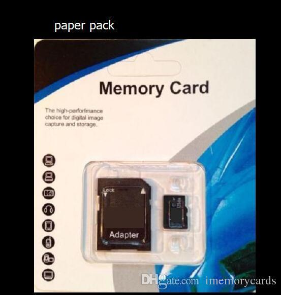 2018 PNY 100 % 진짜 4GB 8GB 16GB 32GB Class 10 TF 카드 C10 TF 메모리 카드 무료 어댑터 포함 빠른 배송