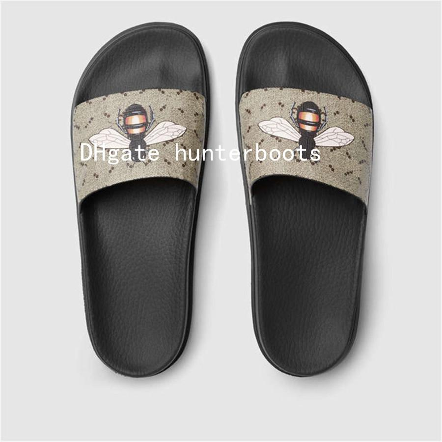 68a32681d059 With Box 2018 Mens Web Rubber Slide Sandal Slippers Boys  Girls Tian Blooms  Print Flower Slide Sandals Unisex Outdoor Beach Flip Flops Shoe Boots Fur  Boots ...