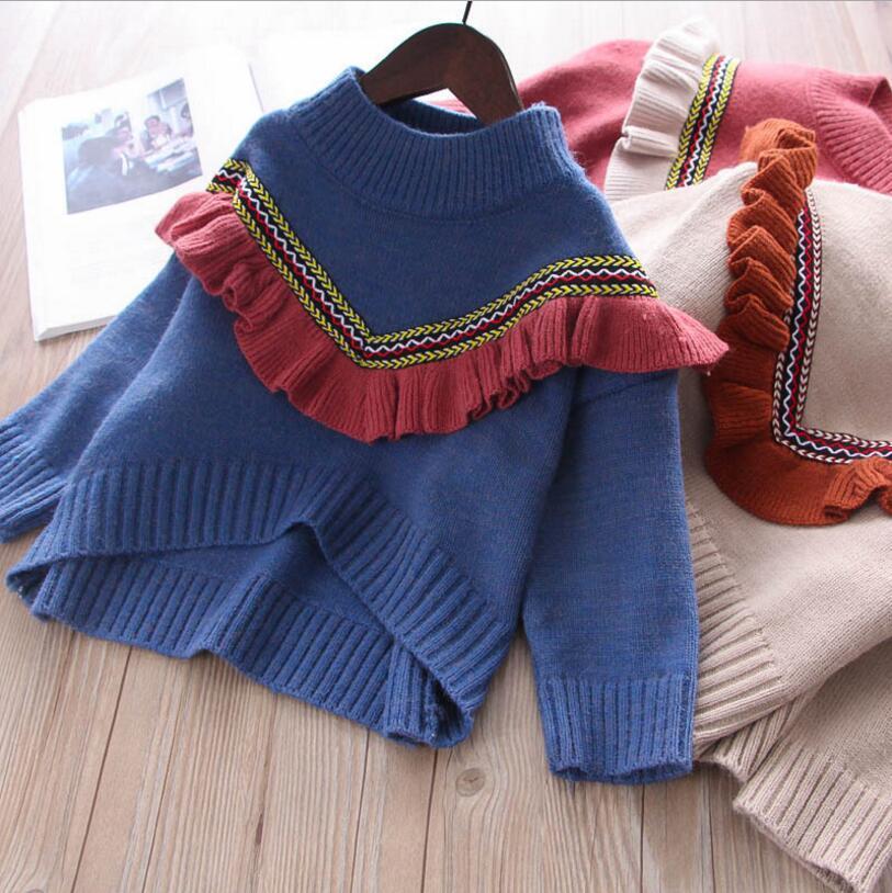 dd8e71e94 Baby Girl Sweaters 2018 New Children Winter Tops Fashion High Grade ...