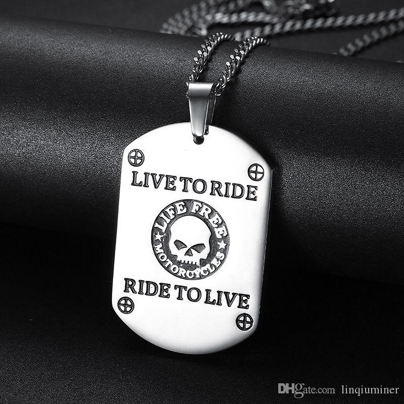 BIKER punk silver style stainless steel harley pendant for free shippinghip hop jewelry