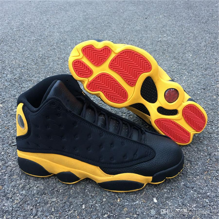 pretty nice 51cb3 39027 New 13 XIII Melo Class of 2003 MEN Basketball Shoes designer 13s black  yellow sneakers sports outdoor trainers top quality SIZE 7-13