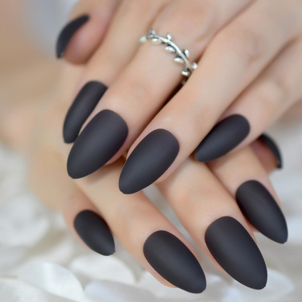 Soft Surface Matte Acrylic Nail Deep Color Medium Full Kit ...