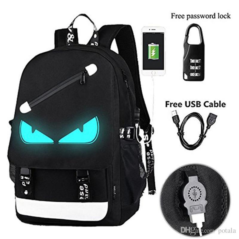 4ce947ada8 43 26 12CM Noctilucent Cool Boys Girl Outdoor Backpack 48 29 17CM 17   19    Lovely Luminous Backpack Daypack Shoulder School Bag Laptop Bag Large  Backpacks ...