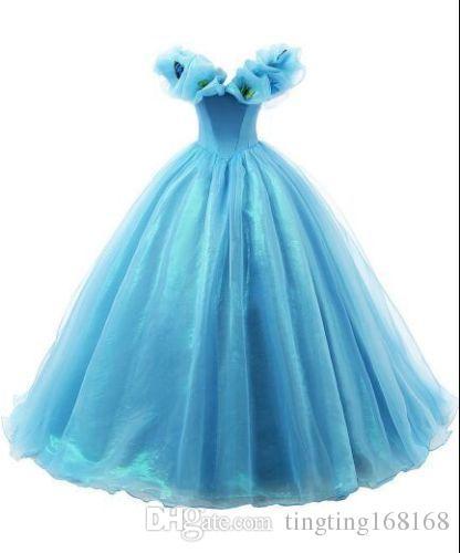 19442a28f1a0d Acheter Cendrillon Fille Robe Princesse Enfants Pageant Party Dance Robe De  Mariage AB De  96.48 Du Tingting168168