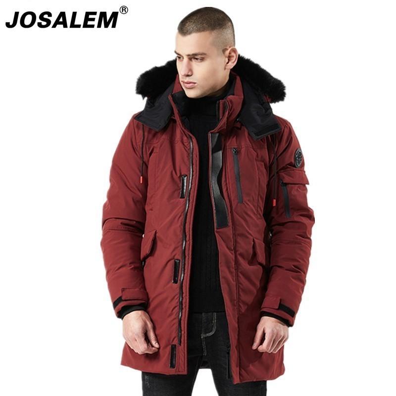 Compre JOSALEM 2018 Chaquetas Largas De Invierno Impermeable Hombres Parkas  Hombres Abrigos Con Capucha Rusos Hombre Piel Cálido Hombre Grueso Outwear  A ... 04031fe289f8